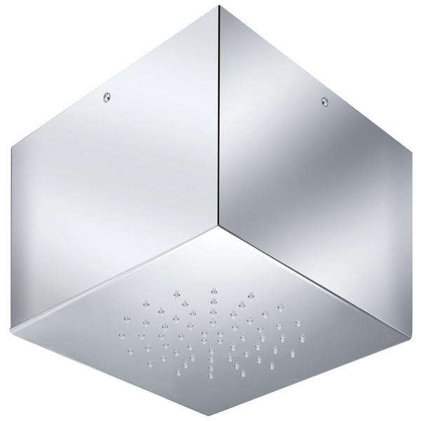 Soffione doccia acciaio inox 1 getto serie case 225 x 225 x 180 mm - Soffione doccia soffitto ...