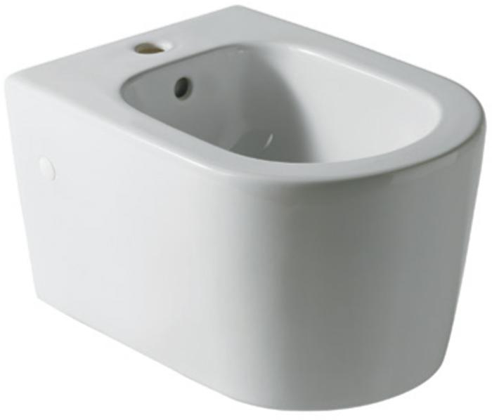 Bidet ceramica sospeso monoforo serie form square for Architec bidet sospeso
