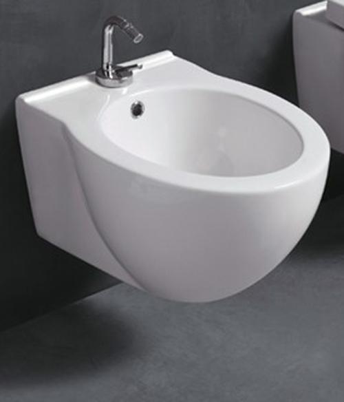 Bidet ceramica sospeso monoforo serie short for Architec bidet sospeso