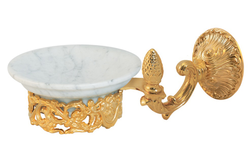 Accessori Bagno Ottone Oro.Porta Sapone Ottone Serie Impero
